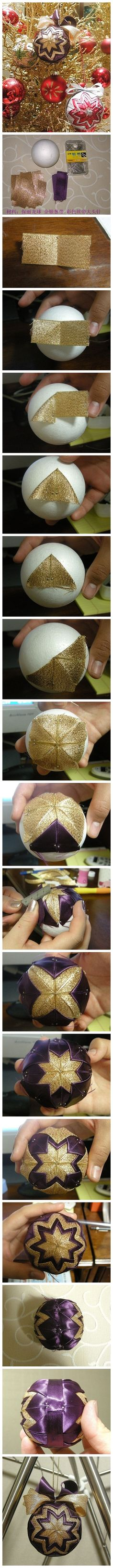 DIY Patchwork for Christmas Ornaments