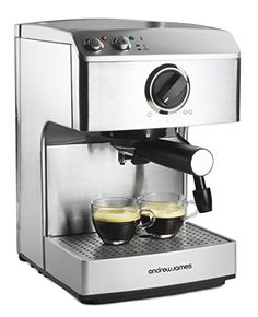 buy now   									£79.99 									  									Make fantastic tasting and professional looking coffees at home with the Andrew James Barista Espresso Maker. The machine has a high pressure 15 bar Italian pump which  ...Read More