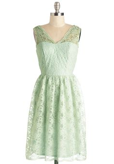 Layer on the Love Dress in Mint - Knit, Lace, Mint, Solid, Lace, Scallops, Special Occasion, Prom, Wedding, Bridesmaid, Pastel, A-line, Sleeveless