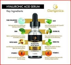Hyaluronic Acid Anti Wrinkle Serum - Natural Facial Moisturizer for Dry, Sensitive, Oily Skin - Face Anti Aging Cream with Vitamin C E for Women and Men - Best Organic Deep Line Repair Best Anti Aging Creams, Anti Aging Skin Care, Creme Anti Age, Homemade Moisturizer, Prevent Wrinkles, Organic Skin Care, Serum, Natural Facial, Natural Skin