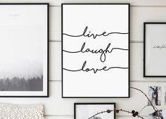 Live Laugh Love Live Print Love Poster Handwritten Print