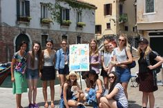 Painting classes in Venice, Italy