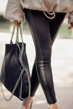 Sweater :: Soyer, Bottom :: Topshop, Shoes :: Christian Louboutin, Bag :: Stella McCartney Falabella bag