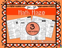 Keep students engaged with these FUN math mazes which review area and perimeter concepts. Great for test prep, math centers or as an end of unit assessment. Students will enjoy a change from the traditional worksheet. Self-checking is a bonus for teachers, since it won't take long for students to discover if they've gone the wrong way! 3 versions are included (perimeter only, area only, and mixed review) with ANSWER KEYS to all documents.