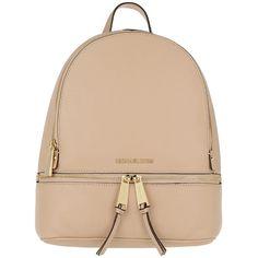 Michael Kors Shoulder Bag - Rhea Zip MD Backpack. Oyster - in rose -... (4 680 ZAR) ❤ liked on Polyvore featuring bags, handbags, shoulder bags, rose, hand bags, man shoulder bag, laptop shoulder bag, laptop backpacks and handbag backpack