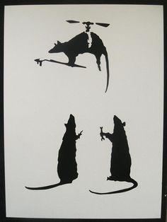 BANKSY Stencils Set Of Five Panda With Guns Punk by existencil