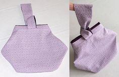 Petit sac à porter au poignet Kocotte cousu par Elisabeth - Patron Sacôtin