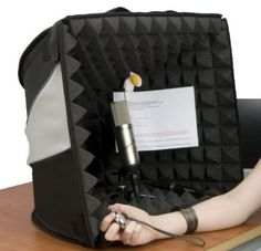 Porta Booth portable recording booth,voice optimized microphone & Headphones for voice recording home studio or road. Essential equipment for voice over artist Recording Booth, Recording Studio, Studio Equipment, Studio Gear, Flight Case, Dj Table, Portable Bed, Recording Equipment, Career Inspiration