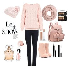 """Let It Snow"" by luckyauliya ❤ liked on Polyvore featuring moda, J Brand, Lancôme, H&M, Elie Saab, Marc Jacobs, Fendi, AV by Adriana Voloshchuk, Rella e J.Crew"