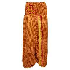 4bc65b989541 Mogul Interior - Mogul Bohemian Style Red Yellow Jumpsuit Romper Silk  Printed Harem Pant Dress - Walmart.com