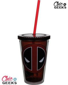Wait till you get a load of these! Official #Deadpool Travel Cups in celebration of everybody's favorite anti-hero making his big screen debut. Lightweight for portability and durable, these are perfect for everyday use. Just remember, with great power comes great irresponsibility.