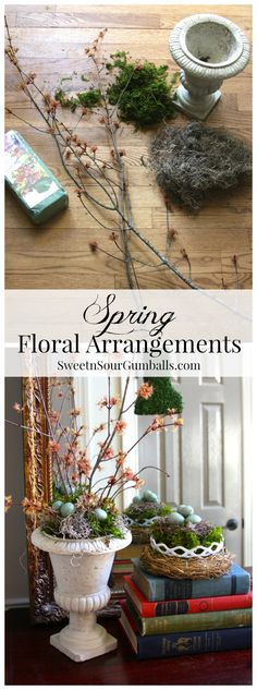 3 Spring Floral Arrangement Tutorials. Each can be completed in 10 minutes or less.