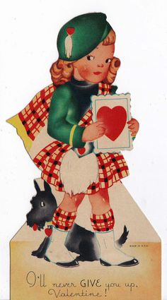 Vintage I'll Never Give You Up Valentine Scottish Greetings Card Valentine Images, My Funny Valentine, Vintage Valentine Cards, Vintage Greeting Cards, Vintage Holiday, Valentine Day Cards, Happy Valentines Day, Valentine Stuff, Valentine Ideas