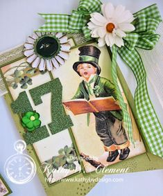 It's time for the wearin' of the green, so here's a St. Patrick's Day banner made with gorgeous ribbons & flowers from Really Reasonable Ribbon. Erin go Bragh!