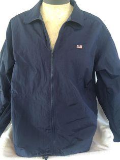 Ralph Lauren Polo Jean Co. Jacket Size L Navy 100% Nylon Zip Windbreaker #PoloRalphLaurenJeanCo #Windbreaker