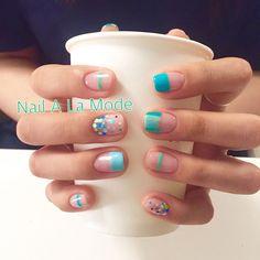 - 앵콜디자인🎉 - #네일어라모드 #nailsdesign #예쁜네일 #lovelynails #nails #gelnails #젤네일 #여름네일 Nail Manicure, Diy Nails, Cute Nails, Pretty Nails, Nail Polish, Minimalist Nails, Nail Swag, Gel Nail Designs, Cute Nail Designs
