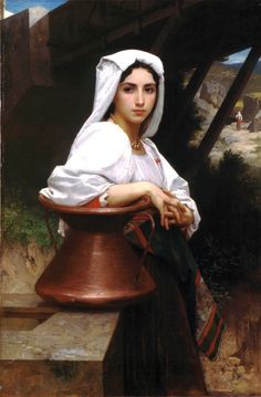 """Italian Girl Drawing Water, 1871, William-Adolphe Bouguereau Size: 119.5x79 cm Medium: oil, canvas"""