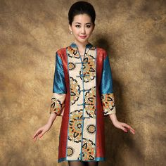 Shop elegant silk cheongsam, traditional Chinese red bridal dresses, sexy modernize Qipao from www.ModernQipao.com. Save 6% by share our products. Multi color wrinkled silk long V-neck fashion blouse short dress