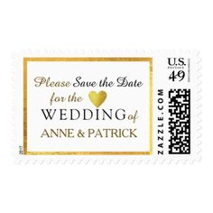 elegant wedding Save the Date Postage - save the date gifts personalize diy cyo