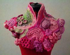 Free form crochet capelet I made for me!
