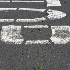 #SF #stop #lane #cement #concrete #asphaltart #lineart #urban #urbanart #urbanarcheology #pavement #hardscape #streetart #modern #modernist #accidentalart #abstractart #abstract #art #lookdown #unintentionalart #unexpectedart #crosswalk #minimalist #minimal #intersection #asphaltography #roadart #streetmarkings #parkinglot