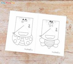 Bugs Corner Bookmarks With Template - Easy Peasy and Fun Origami Bookmark Corner, Corner Bookmarks, Brownie Guides, Snow Globe Crafts, Spring Crafts, Easy Peasy, Easter Crafts, Ladybug, Bugs
