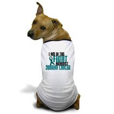CafePress  In The Fight Against Ovarian Cancer 1 Dog TShirt  Dog TShirt Pet Clothing Funny Dog Costume ** Check out the image by visiting the link.