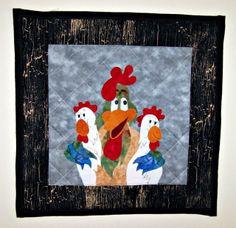 Jane's Quilting patchwork, sew, galinha, jane quilt, appliqu, roosterchicken mtg, chicken quilt
