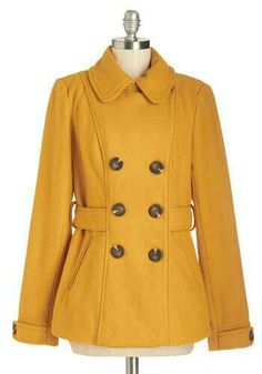 Mirzy and I could be twins in this ModCloth coat