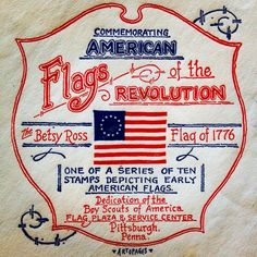 Vintage 1st day cover for a Revolutionary American Flag Series. #usa #flag #1776 #usps #usaflag #betsyross