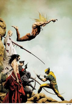 Wolverine vs. Everyone by Jae Lee