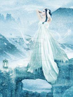 Goddess of Snow by Kryseis-Retouche.deviantart.com
