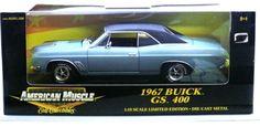 ERTL AMERICAN MUSCLE 1967 BUICK GS 400 BLUE 1/18 Die Cast LIMTD EDIT #29258P NIB #AMERICANMUSCLEERTL #1967BUICKGS400