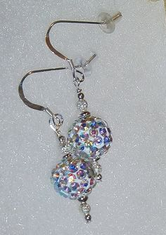 925 Sterling Silver Crystal AB Sparkle Dangle by dsmenagerie, $18.99