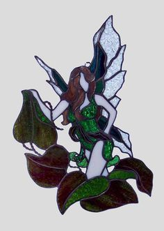 Stained Glass Nature Fairy