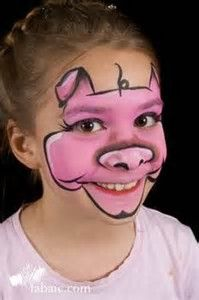 Image result for face painting for pigs