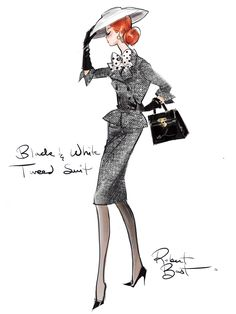 Black, white and tweed suit from the Barbie Fashion Model Collection by Robert Best (@robhbest)
