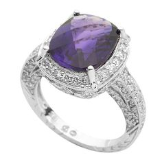 Amethyst and Diamond Ring available at Houston Jewelry!