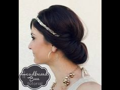 Headband Bun Hair Tutorial