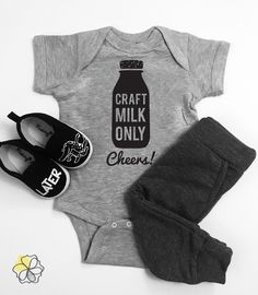 Cozy Bear Boutique Home Brewed Baby Bodysuit Funny Unisex Beer Bodysuit for Babies White