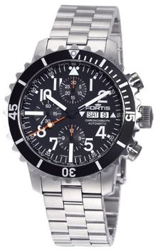 Fortis | Review Fortis Men's 671.10.41M B-42 Marinemaster Automatic Chronograph Black Dial Watch By Fortis