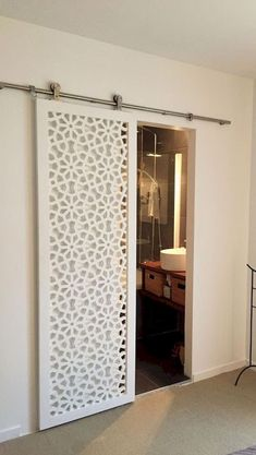 50 Best Sliding Doors Design Ideas - Googodecor INTERIOR- The doors provide privacy and reduce noise between premises. If it comes to a smaller space, sliding doors are suitable option, because the opening and closing take up less space than con… Kitchen Sliding Doors, Sliding Door Design, Sliding Door Systems, Bathroom Doors, Room Interior, Interior Design Living Room, Interior Decorating, Design Room, Door Design Interior
