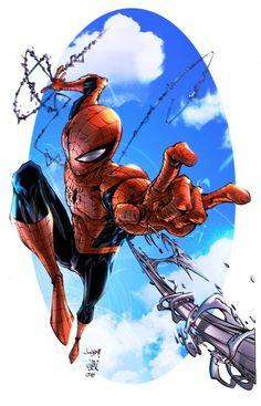 Spiderman Colors --- Pencils by Jonboy Meyers, Ink by Jay Devasier, & Color by Casey Gallant Marvel Comics, Bd Comics, Ms Marvel, Marvel Heroes, Comic Book Characters, Marvel Characters, Comic Books Art, Comic Art, Amazing Spiderman