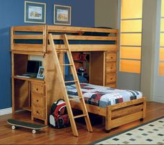17 Bunk Beds with Desks Underneath for Sale