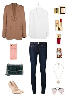 """"""""""" by lilsgrey ❤ liked on Polyvore featuring STELLA McCARTNEY, Dolce&Gabbana, Gianvito Rossi, Frame Denim, Equipment, Christian Dior, Kate Spade, Coach and Yves Saint Laurent"""