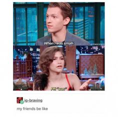 Im not sure if this actually happened but I could see Zendaya actually saying this #relationship Avengers Memes, Marvel Memes, Marvel Comics, Marvel Funny, Marvel Bilder, Tom Holland Zendaya, Marvel Universe, Steven Universe, Spiderman Marvel