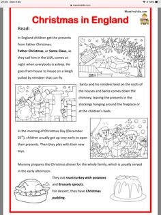 You are in the right place about Bildung illustration Here we offer you the most beautiful pictures English Story, English Grammar, Teaching English, Learn English, English Language, English Primary School, Christmas Worksheets, English Christmas, English Exercises
