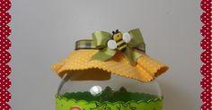 Vidro Abelhinha.   Que olhar é esse?...   fofa!!!        Pra não perder o costume, Joaninhas!!!!   Amo!!!!         Vaquima Mimosa!!!!   A...