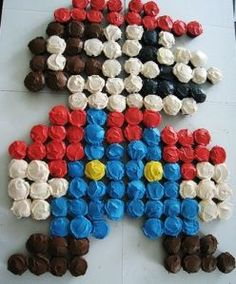 This page features a large selection of Super Mario cake ideas and supplies.  Some of the Super Mario cake ideas include edible cake images, a Super Mario cake pan, fondant cakes, Mario mushroom cakes and more.  You will also find Super Mario partyware, personalized invitations, party favors and party decorations.
