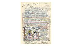 Jean PERDRIZET (PER033) sans titre, 1975, encre et crayon de couleur sur papier, 36.7 x 27 cm